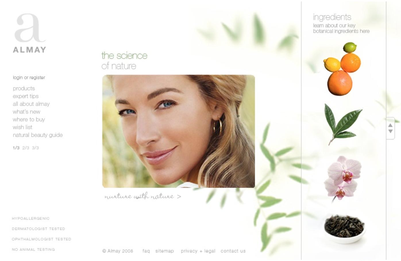 Almay_homepage